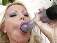 blonde masturbating until her brunette girlfriend comes to assist