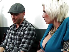 darcy tyler gets her boobs licked and squeezed