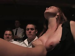 Worthless wench must endure a gruelling public punishment