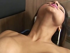 Timid TS slut becomes a thrall of a massive mighty manhood