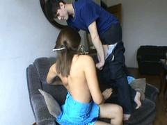 Amateur couple makes their first porn clip