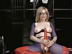 Nina Hartley likes tormenting her juicy moist slot