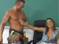 Construction Worker Finds Hot Teacher Devon Lee At Her Desk And Makes Her Engulf His 10-Pounder Before He Copulates Her Cunt Right There In The Classroom Mature Boobs Spunk flow