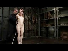 Redhead Hotty Getting Bondaged Bawdy cleft Fingered By Master In The Dungeon