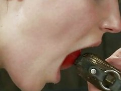 Serf acquires painful nipple torture
