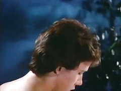 Youthful horny couple in a classic porn movie