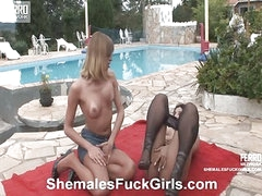 Bia&Anita shemale dicking girl on video