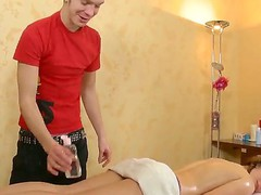 Cute and adorable Lara is getting very aroused from receiving sensual oiled massage
