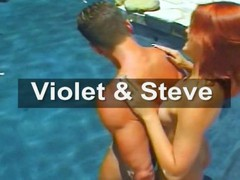 Violet is a red-haired beauty who gets hammered by Steve