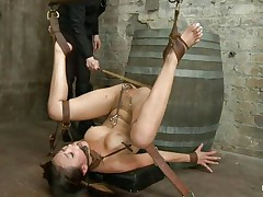 asian juvenile slave getting punished for her sins