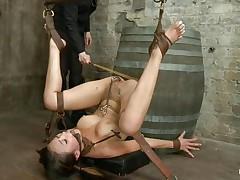 asian juvenile slave getting punished for her sins