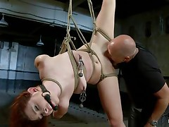bald guy fingering and licking a hot cunt