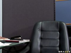 sexy babe sucking cock below desk