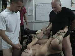 The Butler takes revenge with butt fucking mistress in restraints.