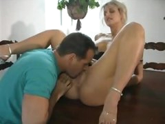 Milf has a big cock in her ass