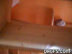 Bedroom dilettante striptease