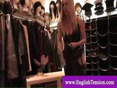 Female-dominant shows her tailored made boots collection