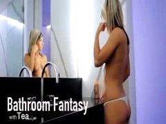 Bathroom fantasy of unbelievable model