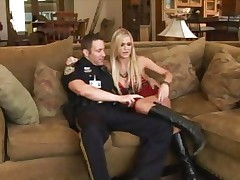 Naughty girl Mckenzie Miles is picked up and cop fucked