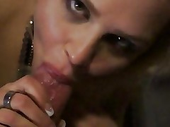 Gorgeous blonde slobbers over this stiff skin flute
