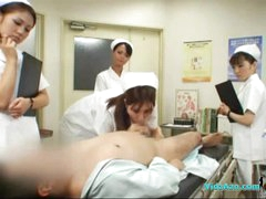 4 Nurses Giving Handjob And Blow job For Patient Cum To Face hole In The Surgery