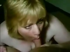 Fat blonde smokes dick