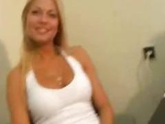 blonde hot secretary at work