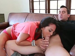 Curby Latina Adrianna Luna enjoys sucking Billy Glides fat cock previous to getting it in her bawdy cleft