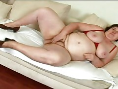 mature slut masturbating and sucking big cock