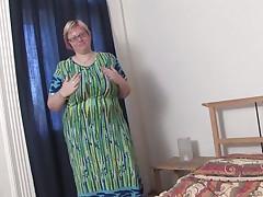 large mama wiske likes her own huge milkers