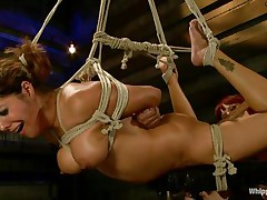 bound francesca le gets pleasured by maitresse madeline