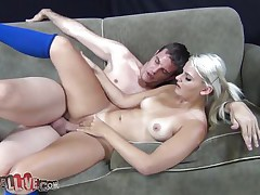 mature blonde rides fucking machine for the first time ever