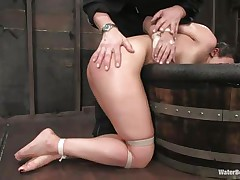 hotty enjoying some water bdsm and domination