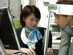 japanese girl is about to be screwed at the office
