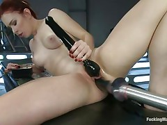 ginger floozy tries to burn out this machine's motor!