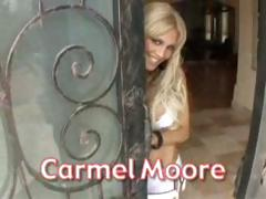 Hawt blonde babe, Carmel Moore, likes getting fucked POV style
