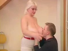 Chubby Blonde Nailed By Stud