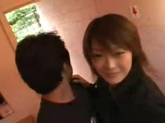 Getting frisky with sexy Japanese playgirl