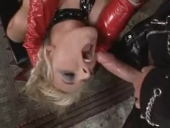 Kinky latex 3some with fantastic sluts