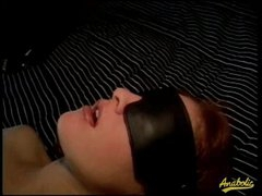 Blindfolded wench fucked by a monster BBC