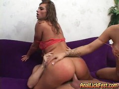 Rampant bitch Naomi rides her butt on a inflexible cock